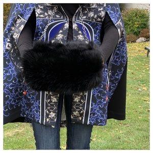 3N1 FAUX FUR MUFF HAND WARMER CLUTCH BAG